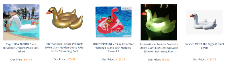 Get an inflatable swan, unicorn or flamingo