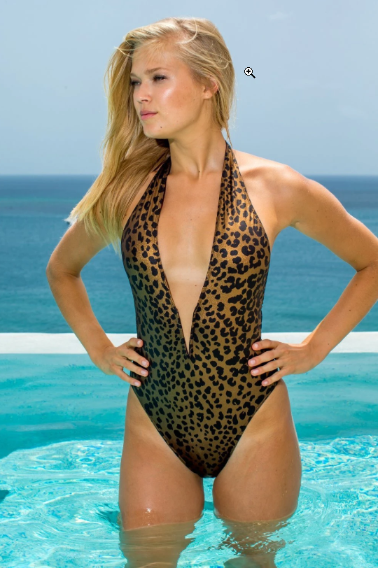 Get a one piece Cheetah print swimsuit
